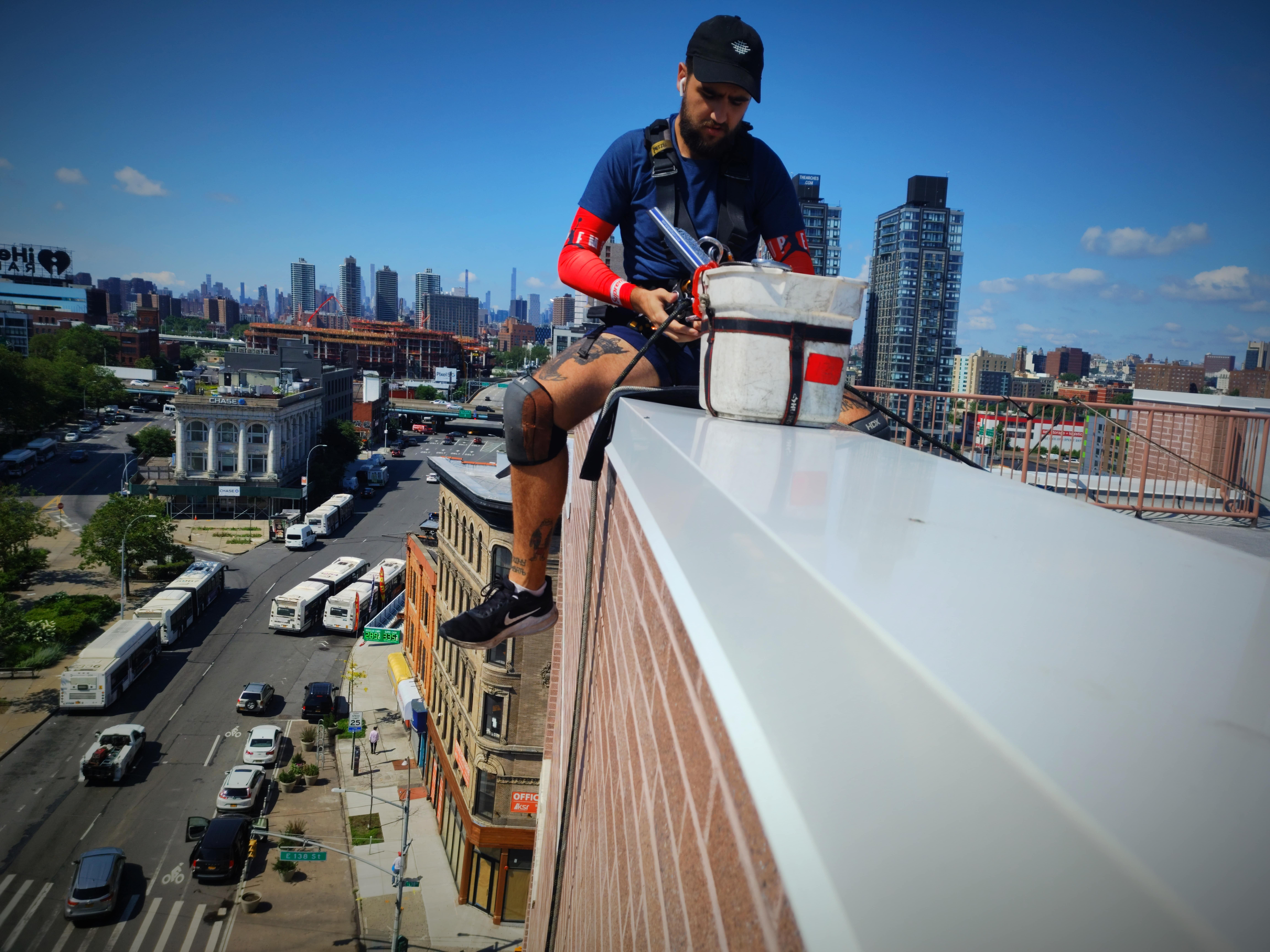 Glass cleaning in 229 Chrystie Street