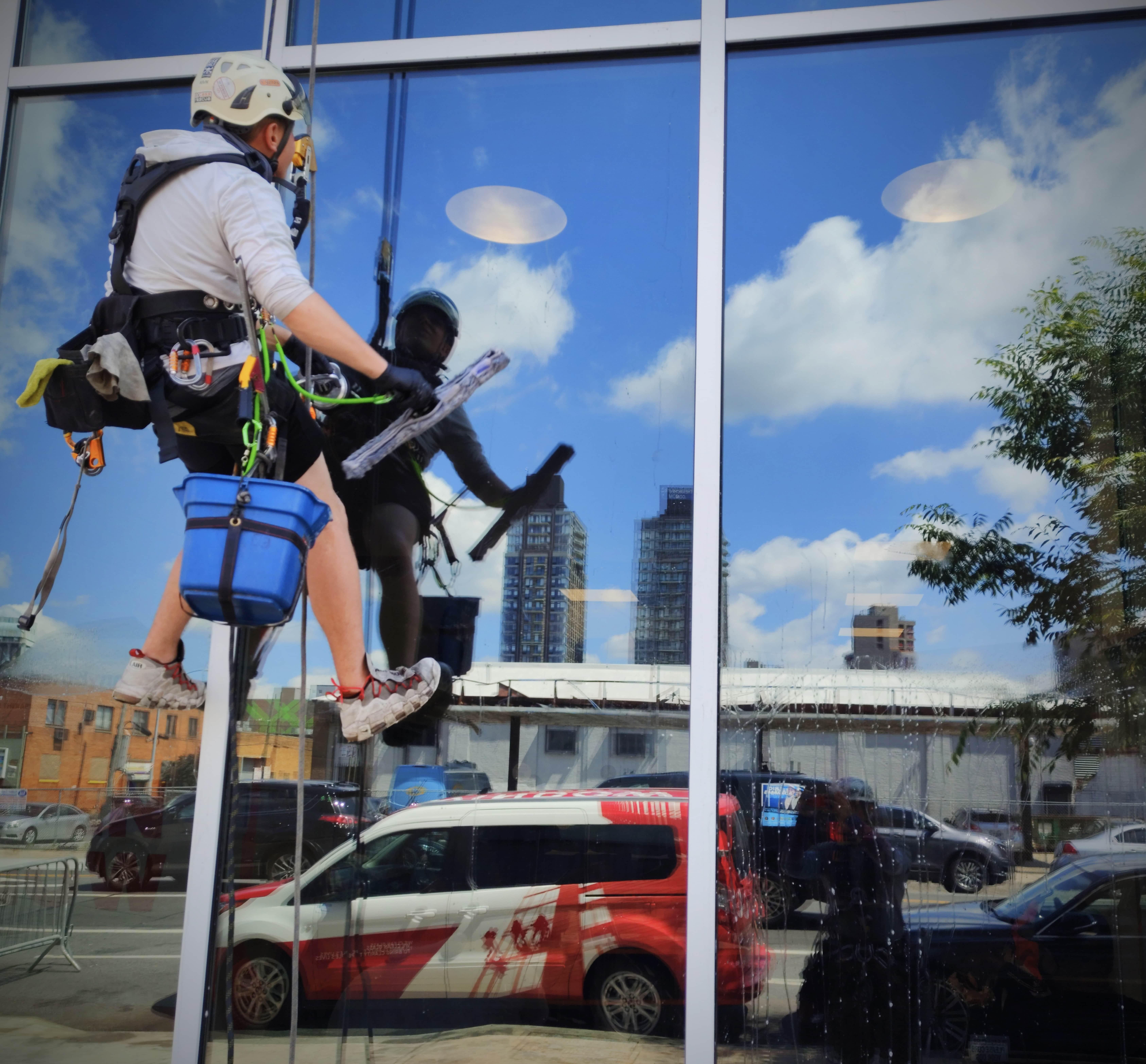 Windows washing in 229 Chrystie Street