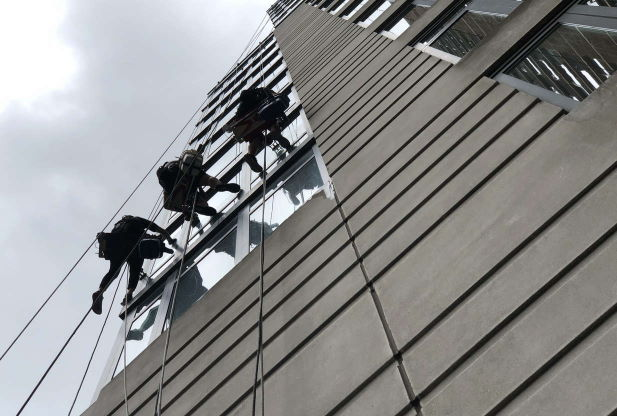 Insured window cleaning