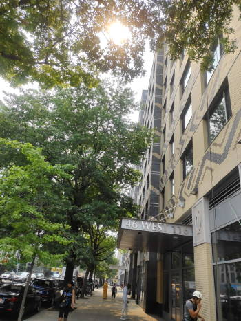 Cleaning fasade building in 40 West 116th Street