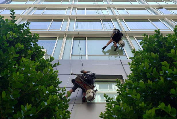 All of our window cleaning procedures and equipment are OSHA compliant