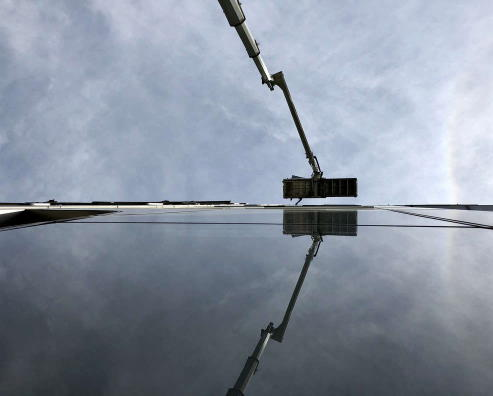 aerial lifts are very time-saving for cleaning windows
