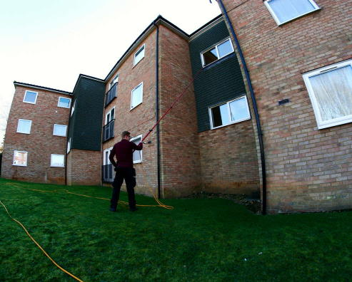 professional water fed window cleaning pole