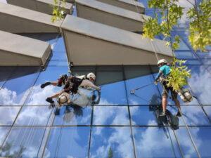 window washing high rise buildings New York