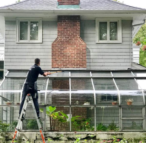 Greenhouse window cleaning in NYC