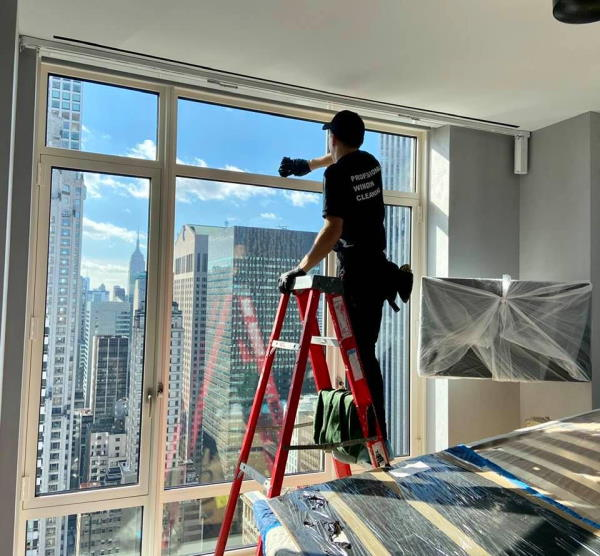 post-construction window cleaning NYC