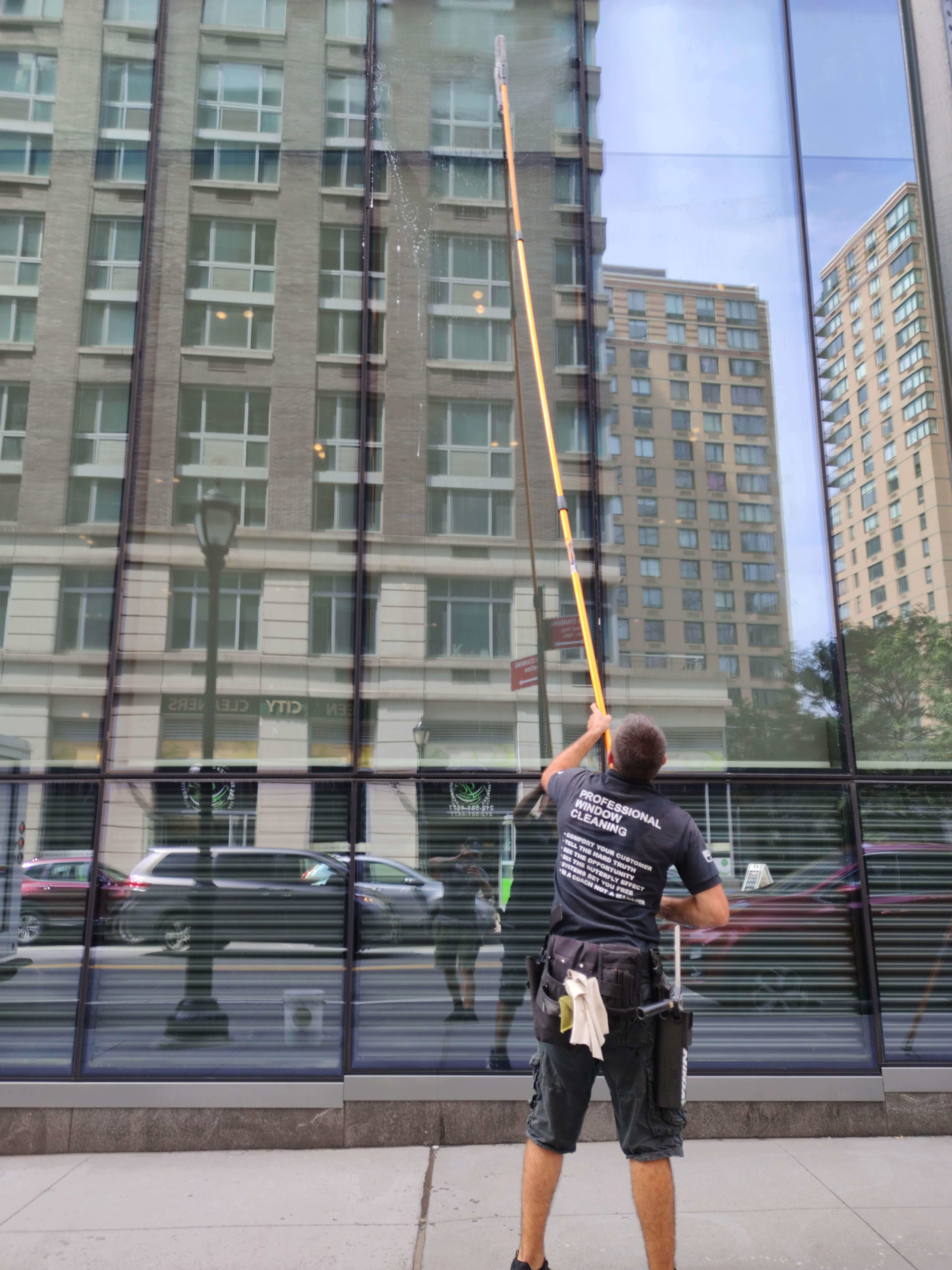 regular window washing in new york city