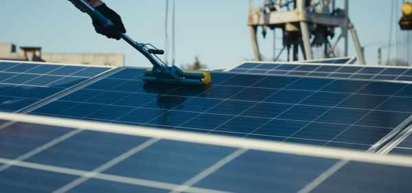 Solar panel cleaning in New York