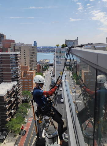 Windows cleaning in 300 East 23rd Street